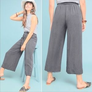 Anthropologie Cloth & Stone Linen Wide Leg Pants
